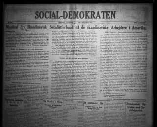 <i>Social-Demokraten</i> (Chicago) danish newspaper in Chicago