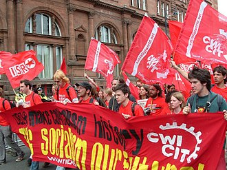 Socialist Party (England and Wales) - Socialist Party on the anti-G8 demonstration in Edinburgh