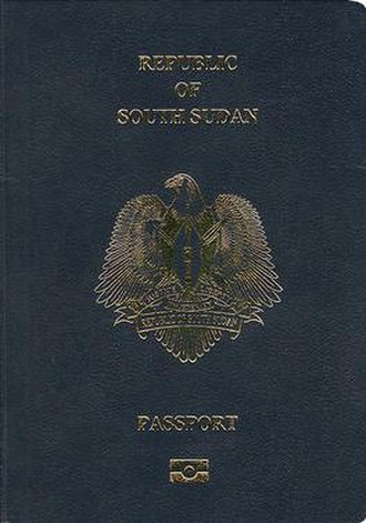 South Sudanese passport - South Sudanese passport front cover