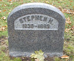 Stephen H. Wendover - Wendover's tombstone