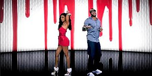 "Sugar (Flo Rida song) - Flo Rida beside his imaginary girl portrayed by Wynter in the music video for ""Sugar."""