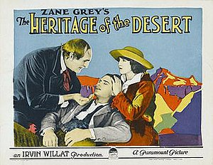 The Heritage of the Desert (film) - Lobby card