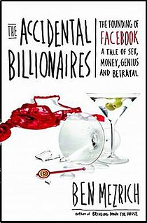 <i>The Accidental Billionaires</i> Ben Mezrich book about the early years of Facebook
