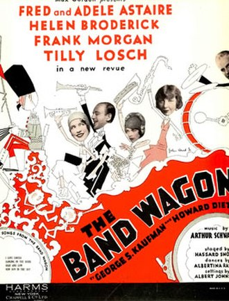 The Band Wagon (musical) - Sheet music cover (cropped)