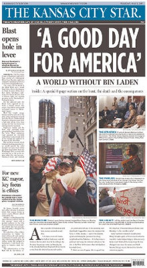 The Kansas City Star - Image: The Kansas City Star front page