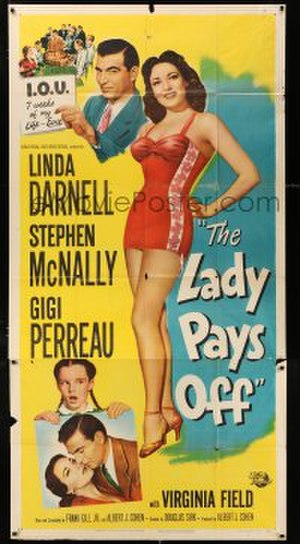 The Lady Pays Off - Theatrical release poster