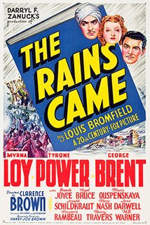 <i>The Rains Came</i> 1939 film by Otto Brower, Clarence Brown