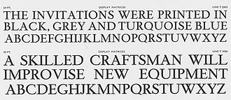 Times New Roman - Times Hever Titling from a Monotype specimen.