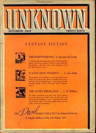 Magic, Inc. - Original 1940 publication magazine cover.