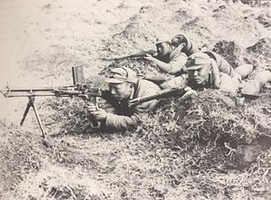 Collaborationist Chinese Army - A light machine gun crew armed with a Czech ZB-26