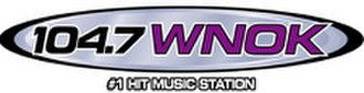 WNOK - 104.7 WNOK logo from 2004 to December 9, 2014. The current logo adopts the KISS-FM fonts