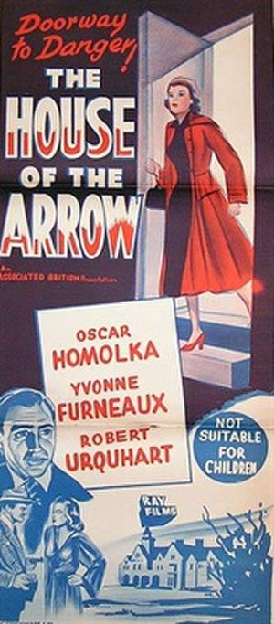 The House of the Arrow (1953 film) - Australian daybill poster