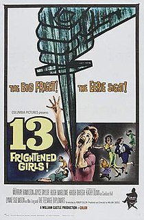 <i>13 Frightened Girls</i> 1963 Cold War spy film directed by William Castle