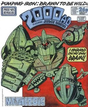 Metalzoic - Metalzoic on the cover of 2000AD, art by Kevin O'Neill