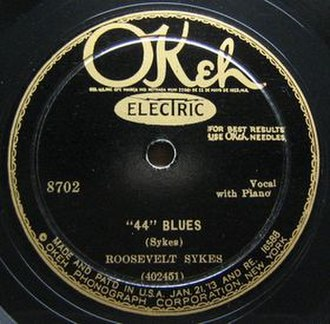 Forty-Four - Image: 44 Blues single label