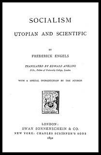<i>Socialism: Utopian and Scientific</i> literary work