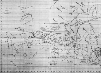 Magnus Sinus - Dauntich's reconstruction of the Indian Ocean area of al-Khwārizmī's world map, showing the replacement of the eastern shore of the Great Gulf with the Dragon's Tail