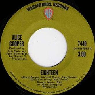 I'm Eighteen - Image: Alicecooper 18