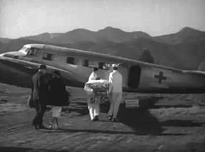 The Man Who Found Himself - A Lockheed Model 10 Electra configured as an ambulance aircraft appeared prominently in the film.