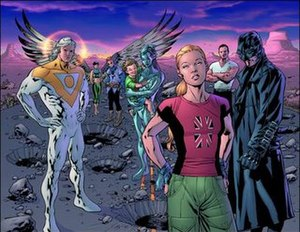 The Authority - The cover of the cancelled Authority: Widescreen by Bryan Hitch.