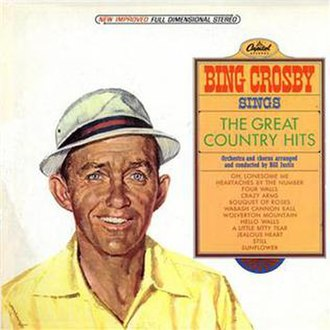 Bing Crosby Sings the Great Country Hits - Image: Bing Crosby Sings the Great Country Hits (album cover)