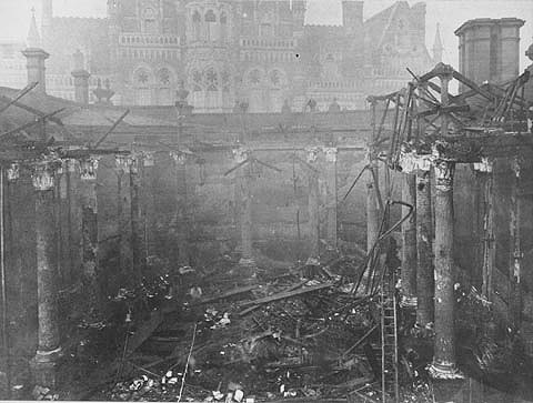 Birmingham Central Library fire jan1879