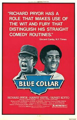 Blue Collar (film) - Theatrical release poster