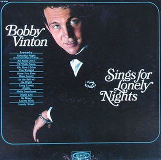Bobby Vinton Sings for Lonely Nights - Image: Bobby Vinton Sings for Lonely Nights