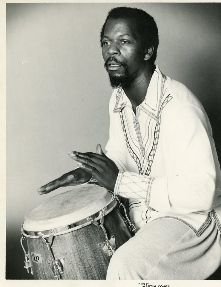 Buck Clarke playing the drums