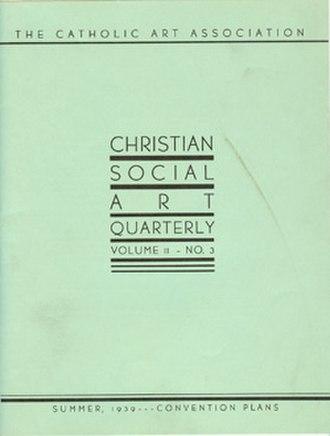 Catholic Art Quarterly - Image: Christian Social Art Quarterly