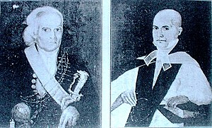 Kastane - The kastane was part of the attire of a Native headmen of Ceylon. Above, a low-country Mudaliyar with a kastane.