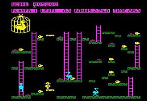 Chuckie Egg - Chuckie Egg running on the BBC Micro