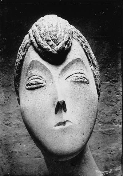 Constantin Brancusi, 1909, Portrait De Femme (La Baronne Renée Frachon), now lost. Armory Show, published press clipping, 1913