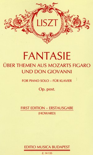Fantasy on Themes from Mozart's Figaro and Don Giovanni - Cover page of the 1997 score