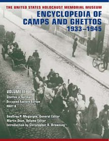 Cover of Encyclopedia of Camps and Ghettos, 1933–1945, Volume II.jpg