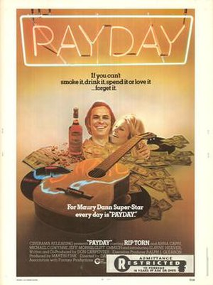 Payday (1972 film) - Theatrical release poster