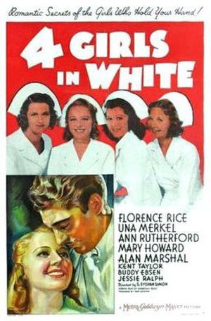 Four Girls in White - 1939 theatrical poster