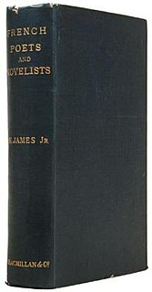 <i>French Poets and Novelists</i> book by Henry James