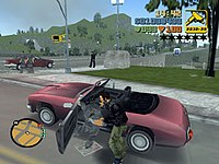 A fictional carjacking in the Grand Theft Auto video game series.