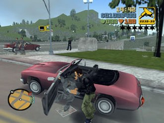 Grand Theft Auto III - Grand Theft Auto III is the first game in the series to use a third-person perspective view model, positioning the camera closer to the player character