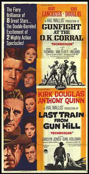 Gunfight at the O.K. Corral (film) - Gunfight at the O.K. Corral/Last Train from Gun Hill film poster