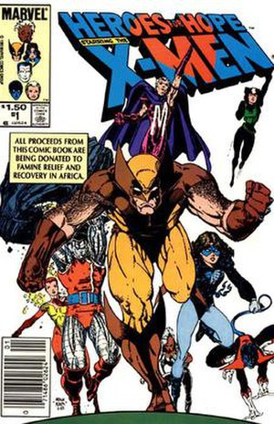 Heroes for Hope - Front cover for Heroes for Hope. Art by Art Adams.