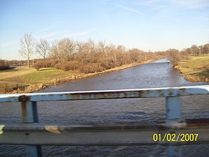 Mad River (Ohio) - The Mad River flowing under Harshman Road in Riverside, Ohio