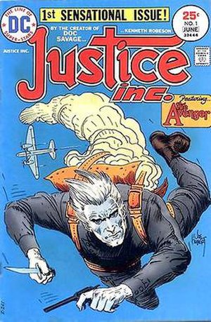 Avenger (pulp-magazine character) - Image: Justice Inc 1975