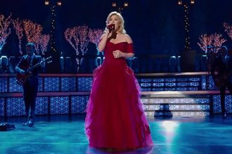 Wrapped in Red - Image: Kelly Clarkson Silent Night video