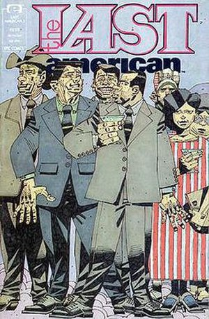 The Last American - The Last American issue 3 cover by Mike McMahon 1991