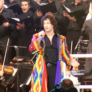 Lee Mead - Mead performing at Andrew Lloyd Webber's Birthday in the Park, September 2008