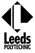 Logos used by Leeds Polytechnic in the 1980s and Leeds Metropolitan University in the 1990s and early 2000s
