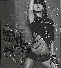 The cover of Lee Hyori's second album, Dark Angel