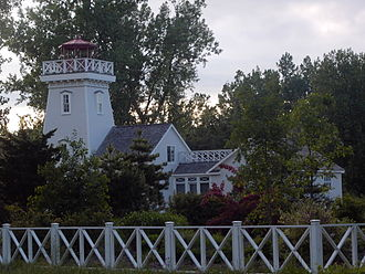 Long Point, Ontario - The recently renovated Old Cut Lighthouse.